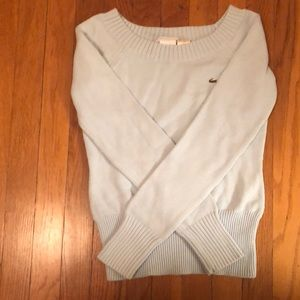 Light Blue Lacoste Boat-Neck Sweater